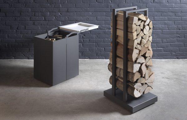 Mobilobox en houtblokkenkarretje